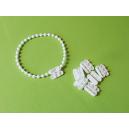 Raccord de chaînette coloris blanc